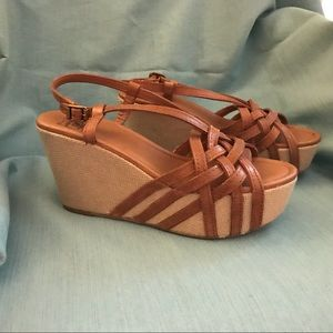 Lucky Brand - Wedge Sandals - Brown - Size 8.5